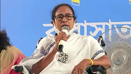 West Bengal chief minister Mamata Banerjee addresses a public rally, at Barasat, in North 24 Parganas. (File photo)