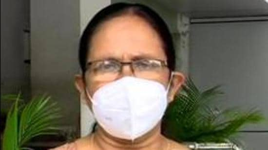 Goa health minister thanked Kerala health minister KK Shailaja for helping out with oxygen supply. (ANI Photo)