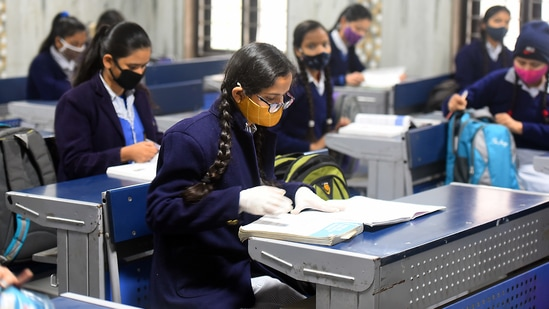 The state government has also announced suspension of physical classes for class 9 to 12 of all government, government-aided, private institutions/schools etc with immediate effect and until further orders. (HT File (For representational purposes only))