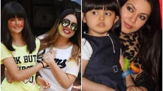 Mahima Chaudhry with her daughter Ariana.