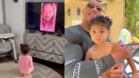 Dwayne Johnson's daughter Tia is a huge fan of Aquaman.