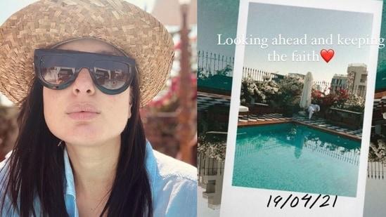 Kareena Kapoor shares a glimpse of her home pool.