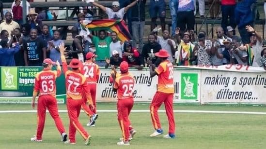 Zimbabwe Cricket team in action.(Twitter/Sikandar Raza)