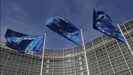 File photo: European Union flags flutter outside the European Commission headquarters in Brussels, Belgium. (REUTERS)