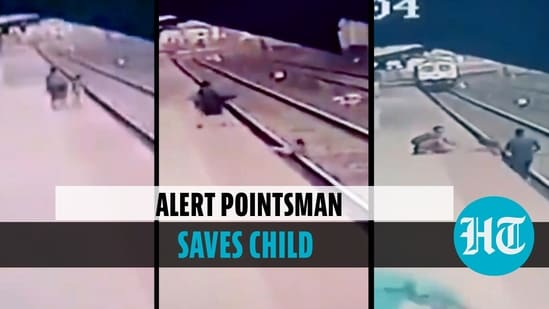 Child falls onto railway track