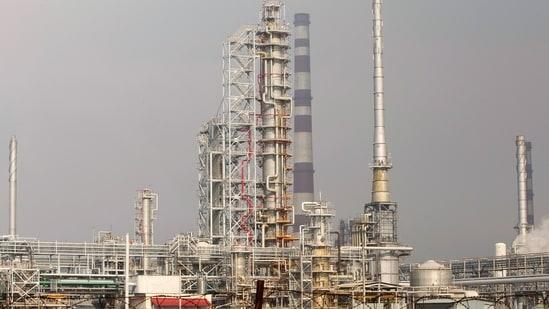 An oil refinery near Mozyr, Belarus, on a branch of the Druzhba oil pipeline. (Reuters File Photo )