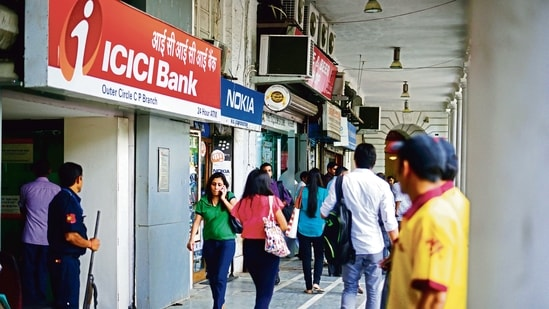 ICICI Bank Ltd plans to add five mid-to-senior level hires in each of the two units(Mint File Photo )