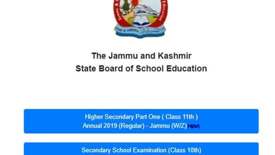 JKBOSE Class 11th Jammu result out(JKBOSE)