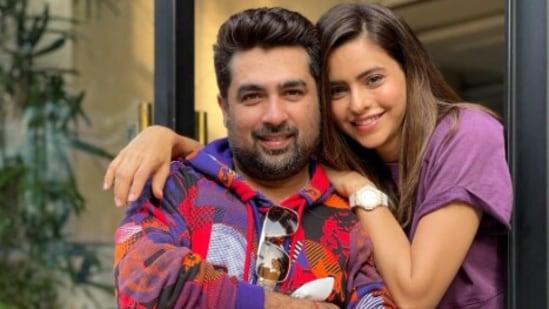 Aamna Sharif with her husband Amit Kapoor.