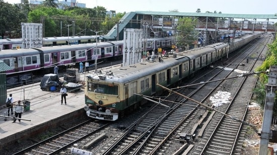 Suburban train services resumed in West Bengal on November 11 last year after more than seven months.(PTI)