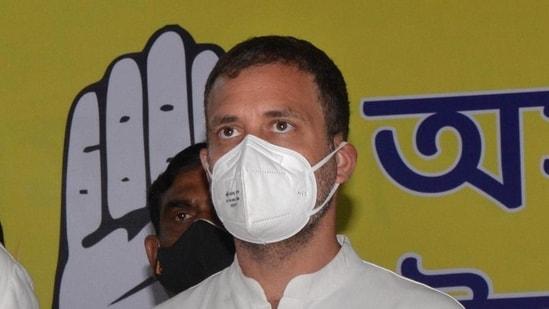 File photo of Congress leader Rahul Gandhi.(HT)