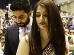 Bollywood couple Abhishek Bachchan and Aishwarya Rai Bachchan.(AP)