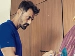 Arjun Rampal dabbled in painting while in quarantine.