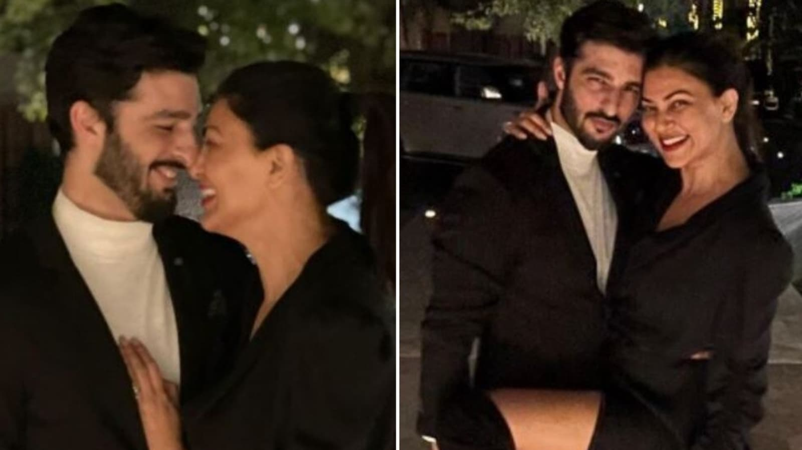 Sushmita Sen praises her boyfriend Rohman Shawl for clicking a silhouette picture of her: 'Nice shot'