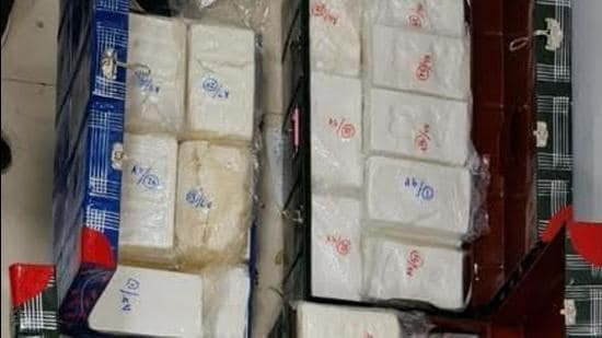 The value of the seized high-purity cocaine is estimated to be <span class='webrupee'>₹</span>2,000 crore in the international market. (PHOTO CREDIT: DRI)