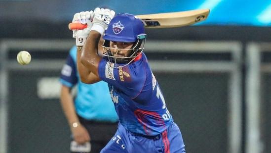 Rishabh Pant of Delhi Capitals plays a shot during IPL 2021(PTI)