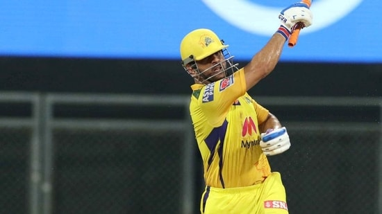 MS Dhoni captain of Chennai Super Kings during match 12 of the Indian Premier League 2021 between the Chennai Super Kings and the Rajasthan Royals, at the Wankhede Stadium in Mumbai,(PTI)