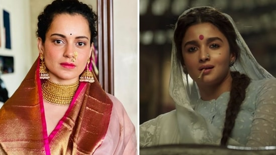 Kangana Ranaut seemed to take a jibe at Alia Bhatt and Gangubai Kathiawadi.