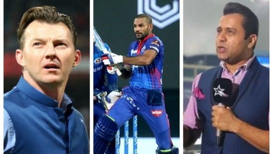 Brett Lee, Aakash Chopra reacted on the close call against Shikhar Dhawan
