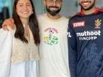 Virat Kohli with Anushka Sharma and Mohammed Azharuddeen.