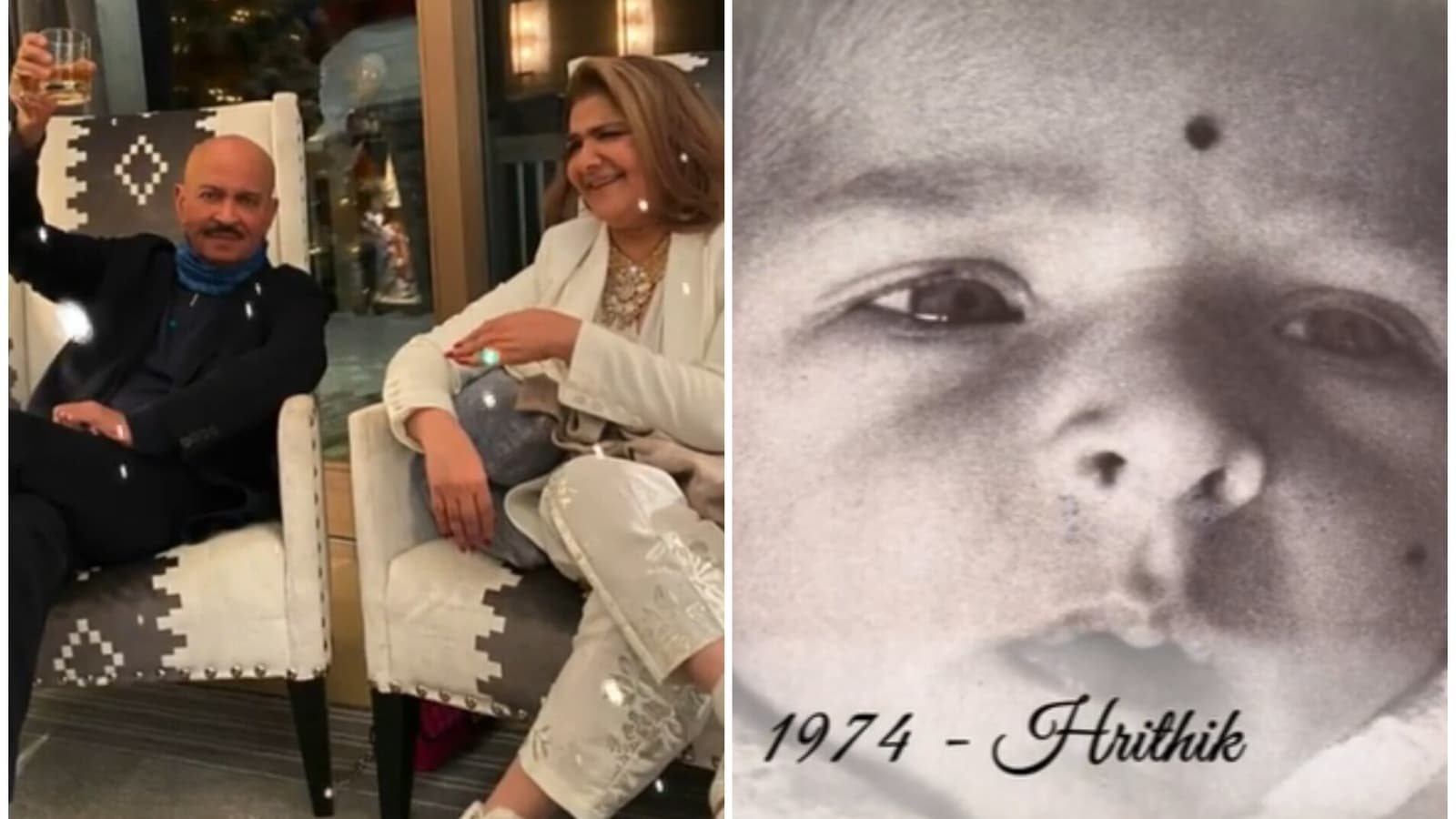 Baby Hrithik Roshan features in mom Pinkie's video to mark 50th wedding anniversary, Sussanne Khan has a special wish - Hindustan Times