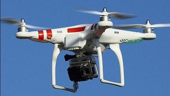 The Civil Aviation ministry and the DGCA on Thursday granted conditional exemption to the Indian Council of Medical Research (ICMR) for conducting a feasibility study of Covid-19 vaccine delivery using drones. (Image used for representation). (HT FILE PHOTO.)