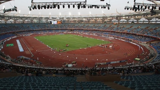 File image of Jawaharlal Nehru Stadium in New Delhi.(Getty Images)