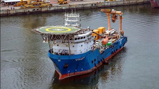 The Indian Navy has dispatched its Deep Submergence Rescue Vessel (DSRV) to assist the Indonesian Navy in rescue efforts for the submarine KRI Nanggala which was reported missing on Wednesday with a crew of 53 personnel on board. (PTI PHOTO.)