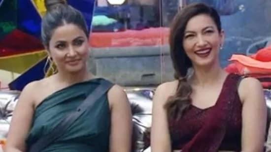 Gauahar Khan and Hina Khan on Bigg Boss.