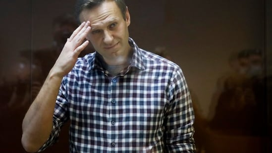 """Navalny said he would start """"coming out of the hunger strike"""" on Friday and the process of ending it will take 24 days.(AP)"""
