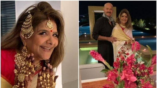 Pinkie Roshan shared new pictures with Rakesh Roshan.