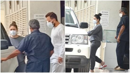 Saif Ali Khan and Kareena Kapoor were spotted at a clinic in Mumbai.
