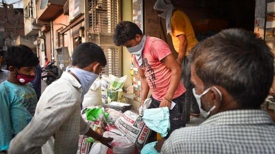 Representational: The free food grains distribution scheme under the Prime Minister Garib Kalyan Anna Yojana was extended in June for five months till November 2020. (Sanchit Khanna / HT Photo)