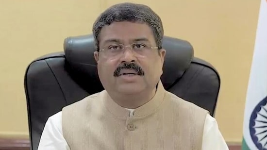 """""""Both the Rourkela Steel plant and Tata Steel plant in Odisha have already supplied about 70 metric tons of medical oxygen to Delhi and Maharashtra,"""" Dharmendra Pradhan said.(ANI)"""