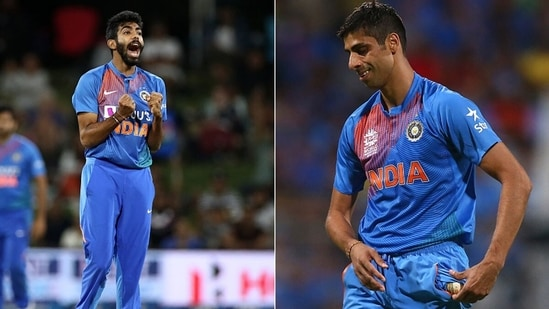 Ashish Nehra (R) and Jasprit Bumrah (L). (Getty Images)
