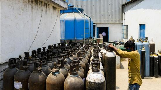 As the private suppliers have reportedly hiked the prices, the Chandigarh administration has now decided to provide oxygen cylinders to private hospitals from the central quota set for the UT (AFP)