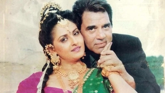 Dharmendra and Jaya Prada starred together in several films in the 1980s and 90s.