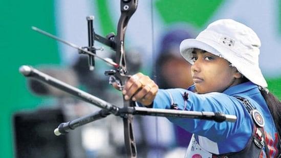 Deepika Kumari (IND) of India competes.(REUTERS)