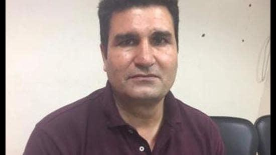 Surinderpal Singh, alias Pehalwan, former GMADA chief engineer. (HT Photo)