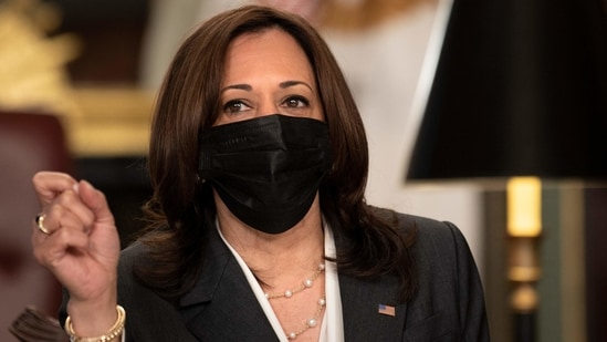US Vice President Kamala Harris says much has been learned over the last year about pandemic preparedness and response but that it would be unwise to rest easy.(AFP)