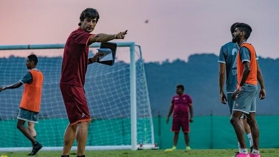 Juan Ferrando during training session at FC Goa.