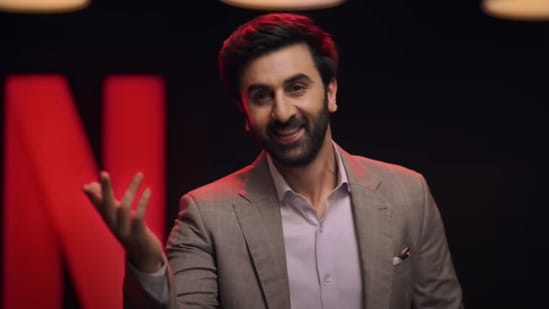 Ranbir Kapoor in a new video for Netflix India.