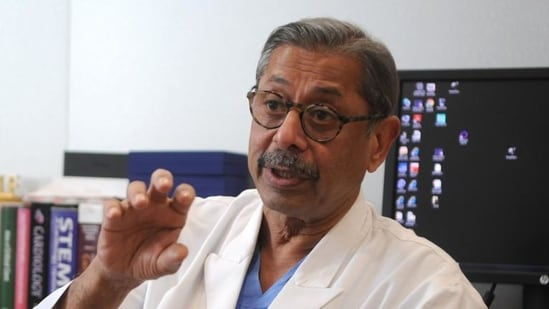 Dr Naresh Trehan said Covid-19 patients can also try other things, including yoga, to keep fit (Parveen Kumar/HT Photo)