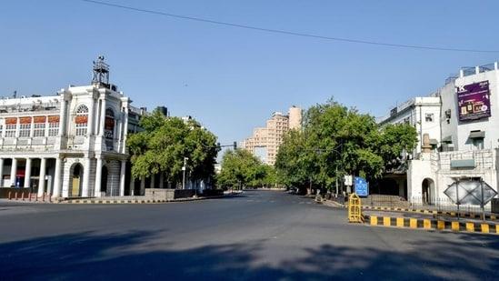 Connaught Place area in New Delhi.(PTI)