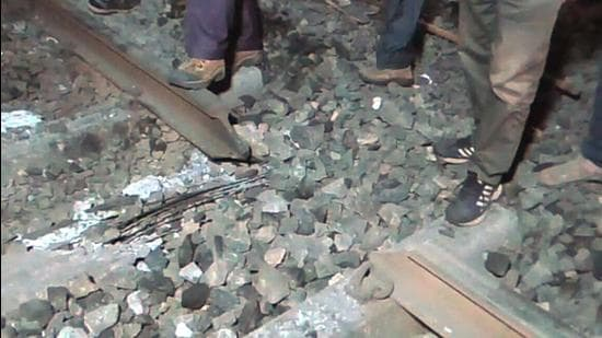 Jharkhand: Several mail,express and passenger trains were held up after the blast was detected.