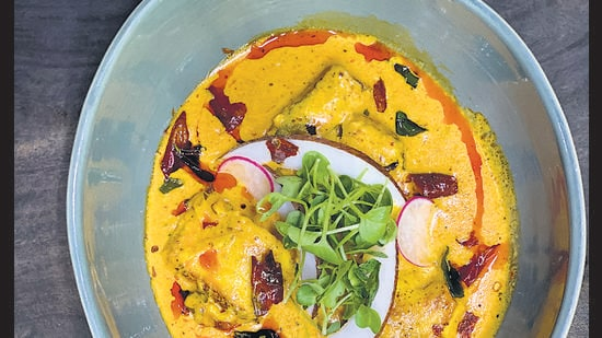 Mango fish curry by chef Pawan Bisht is full of protein and tangy taste.