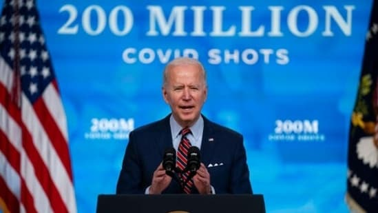 President Joe Biden speaks about Covid-19 vaccinations at the White House, in Washington. (File Photo / AP)