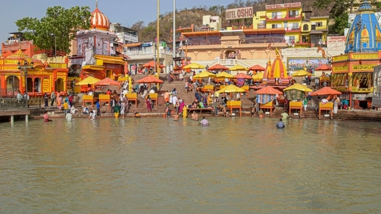 Many spots wore a deserted look on Tuesday at the Kumbh which will formally close only on April 30.(PTI file photo)