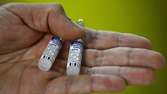 A health worker shows vials of Russian Sputnik V vaccines against Covid-19. (File Photo)
