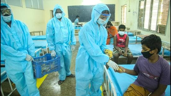 Bihar reported 13,374 Covid-19 positive cases on Tuesday and 84 deaths in the last 24 hours. (PTI PHOTO.)